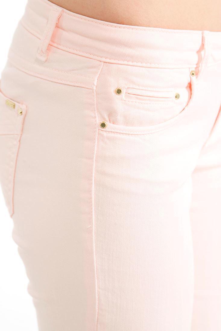 Bayan Pembe Geniş Paça Düşük Bel Pantolon