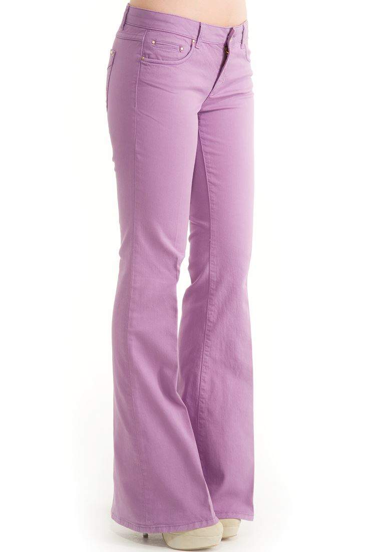Purple Flare Cut Pants