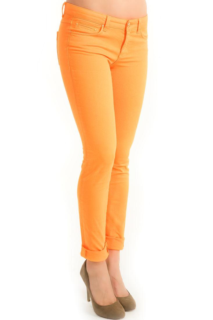 Orange Slim Fit Pants
