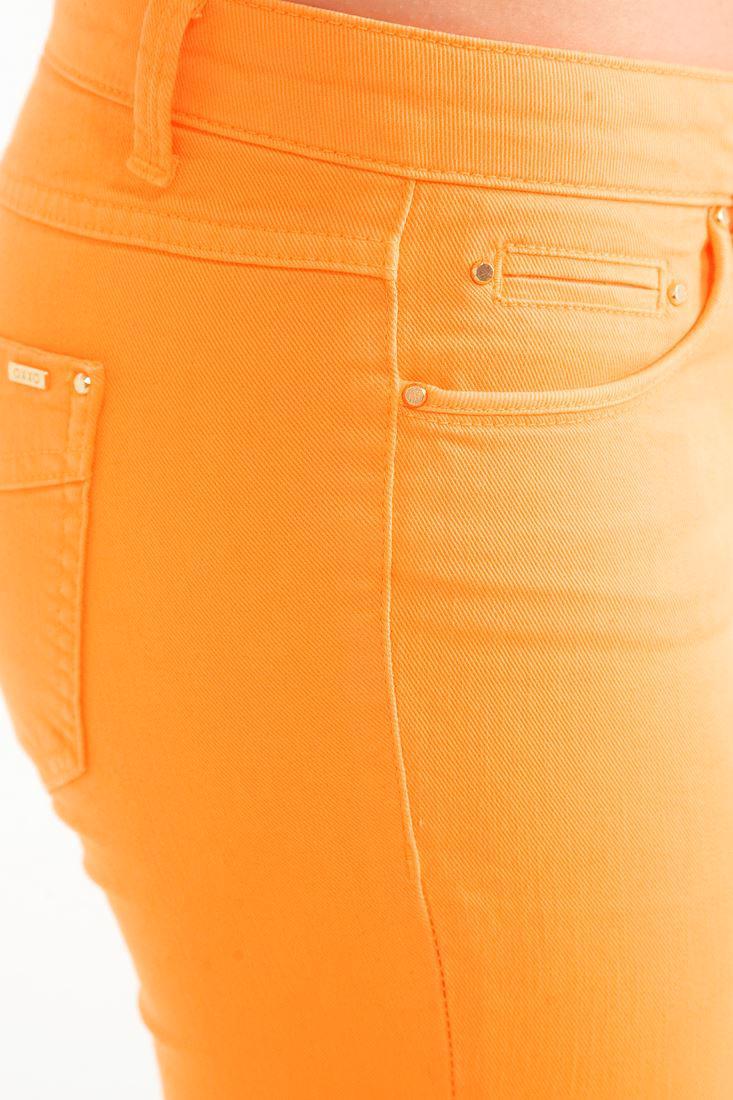 Bayan Turuncu Dar Kesim Pantolon