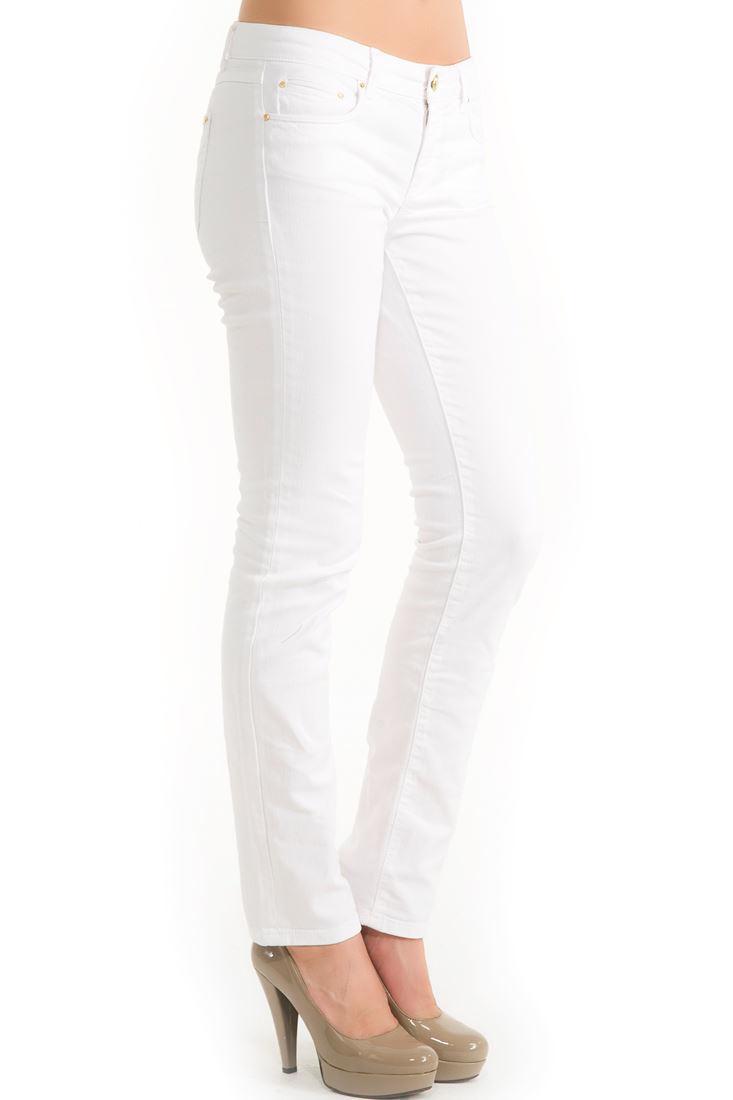 Bayan Beyaz Dar Kesim Pantolon