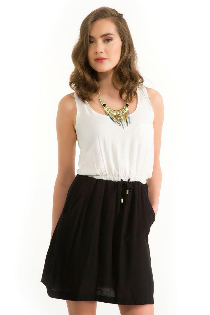 Siyah Parçalı Elbise