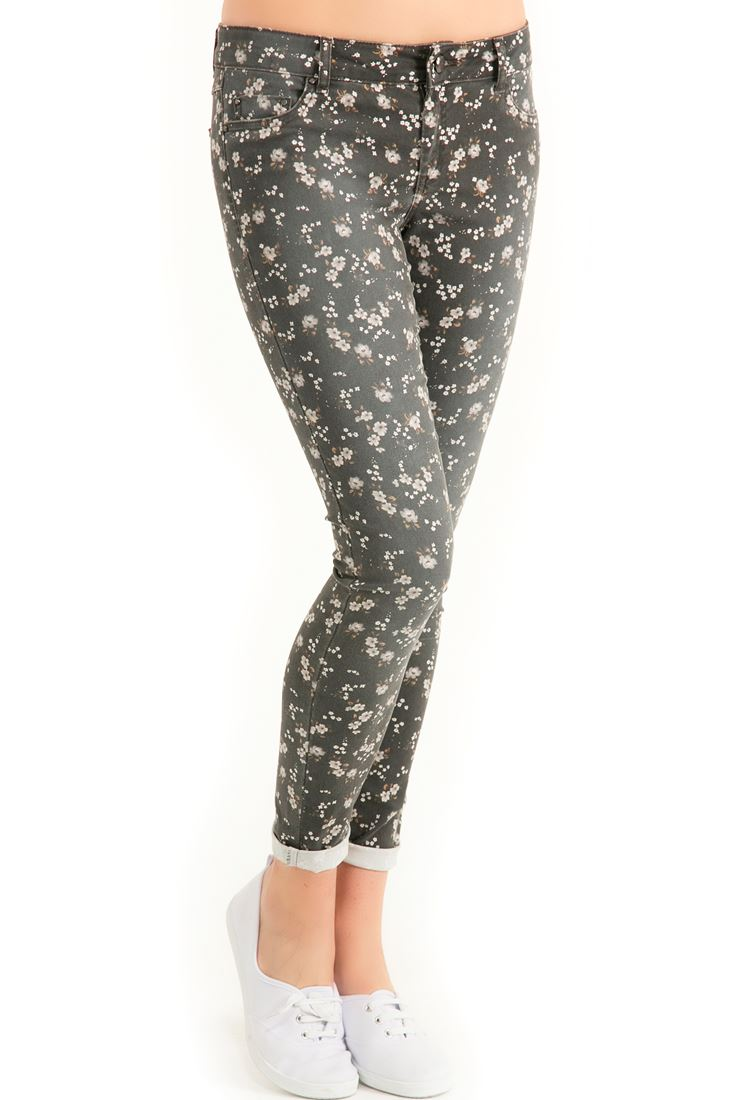 Mixed Flower Print Pants