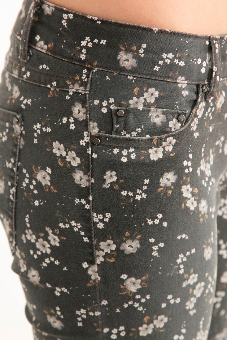 Bayan Çok Renkli Çiçek Desenli Pantolon