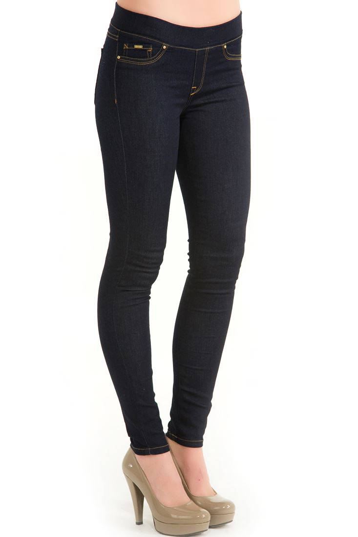 Mavi Yüksek Bel Denim Pantolon