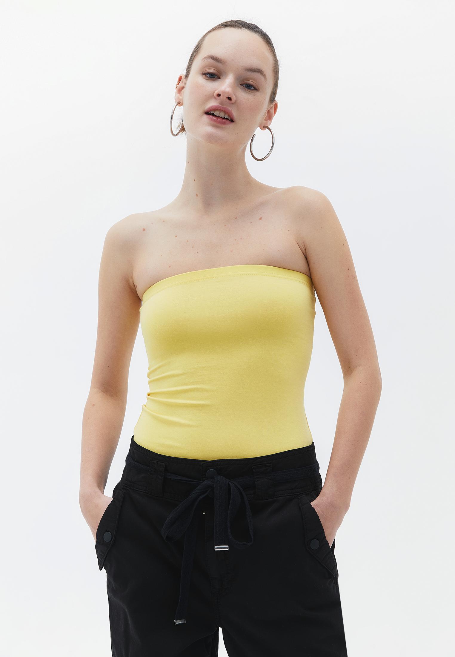Bayan Sarı Straplez Atlet