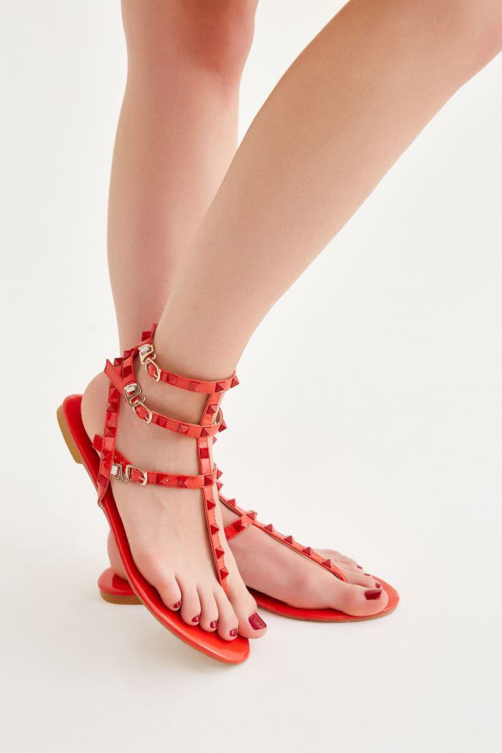 Kırmızı Bantlı Sandalet