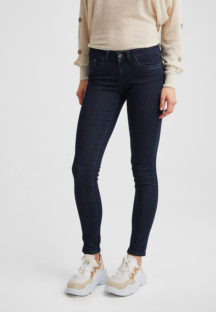 Blue Low Rise Skinny Jeans