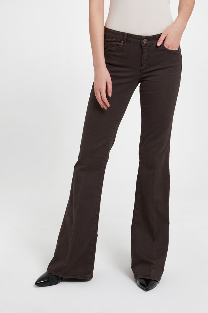Black Low Rise Flare Trouser