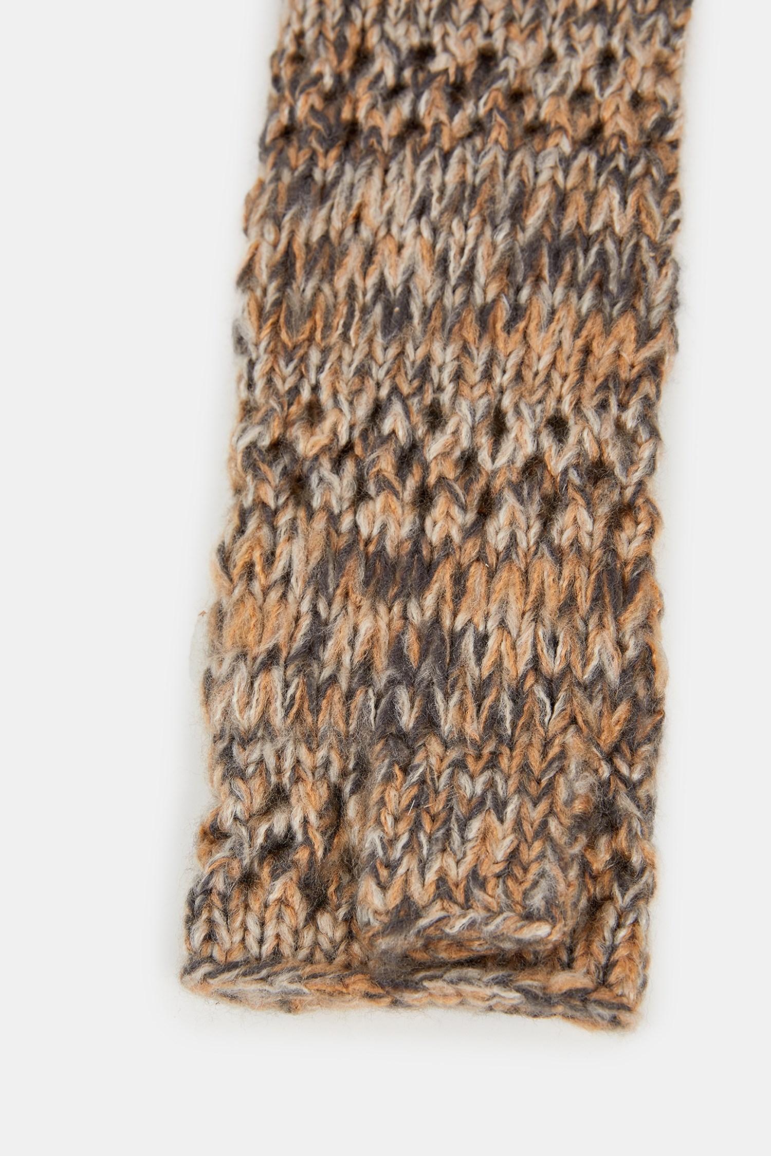 Bayan Kahverengi Uzun Örgü Eldiven