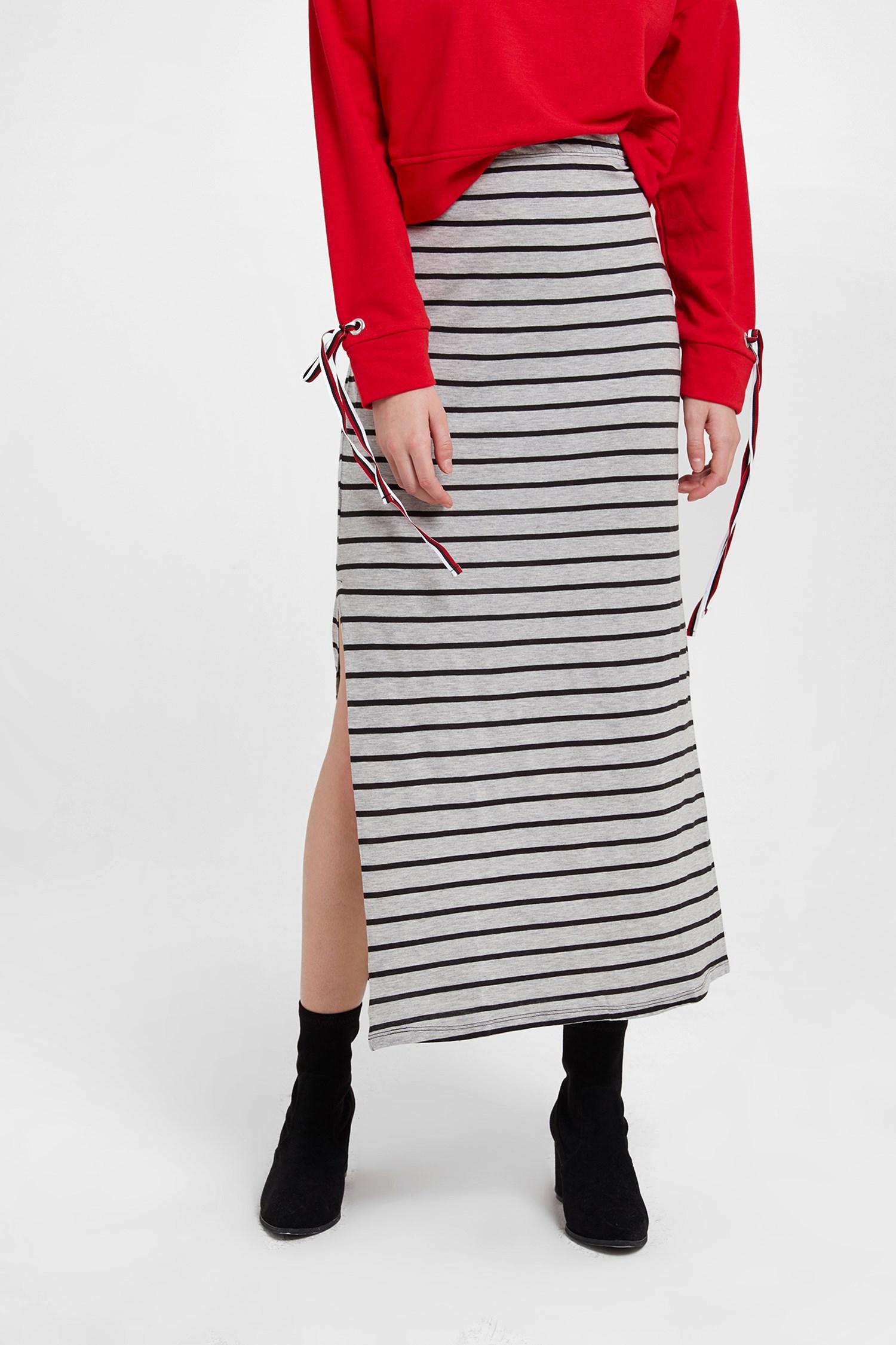 Women Mixed Long Skirt