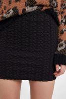 Bayan Siyah Dokulu Mini Etek