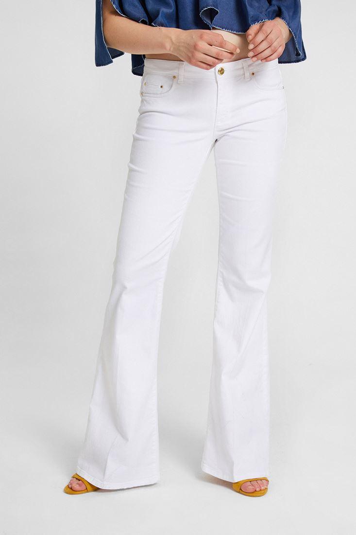 Beyaz İspanyol Paça Pantolon