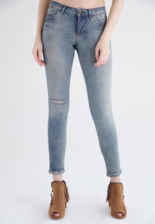 Mavi Ultra Skinny Düşük Bel Denim Pantolon