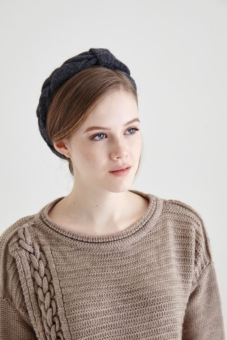 Grey Knitwear Hairband