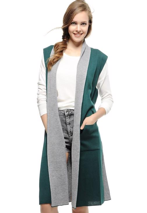 Yeşil Uzun Yelek
