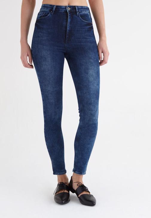 Mavi Ultra Yüksek Bel Skinny Jean Pantolon