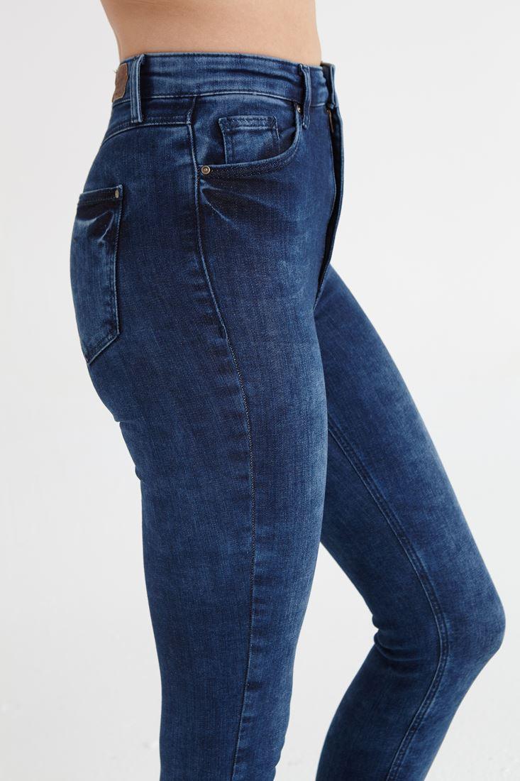 Bayan Mavi Ultra Yüksek Bel Skinny Jean Pantolon