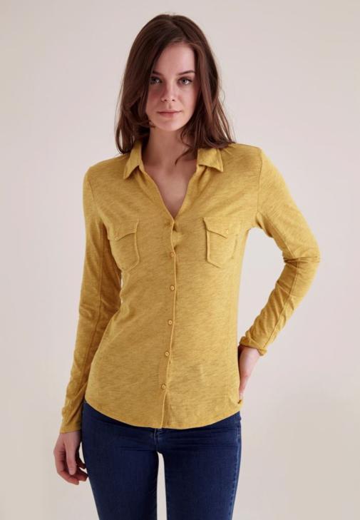 Sarı Cepli Basic Gömlek