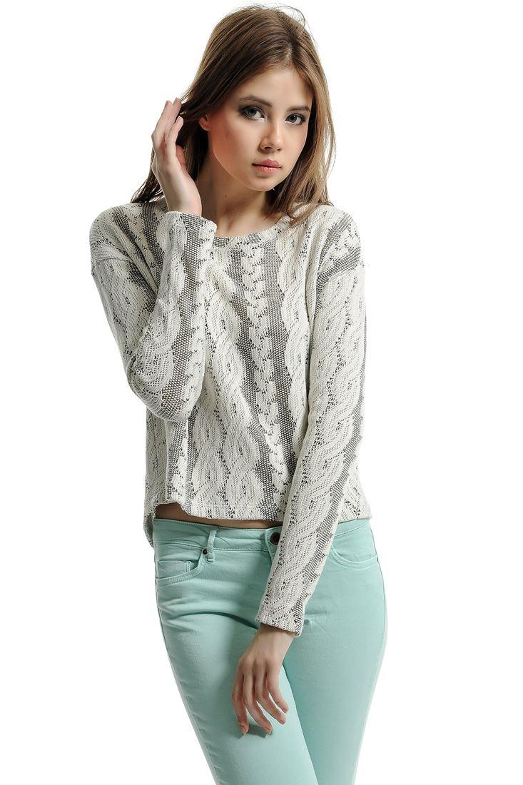Mixed Knitting Cardigan