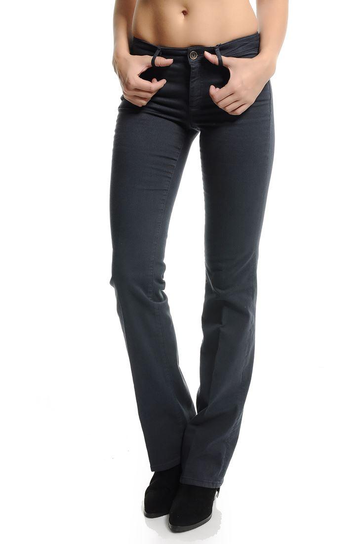 Bayan Lacivert Bella Normal Bel Bot Paça Pantolon