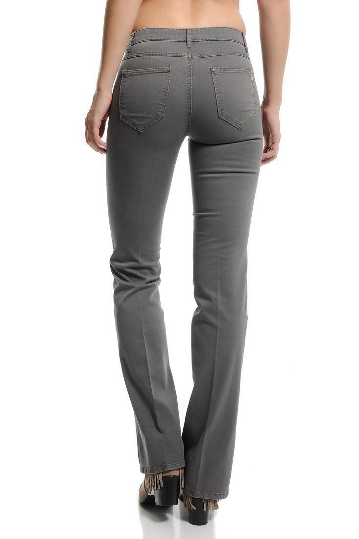Bayan Gri Bella Normal Bel Bot Paça Pantolon
