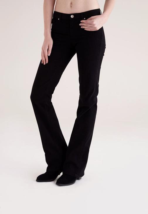 Siyah Bella Normal Bel Bot Paça Pantolon