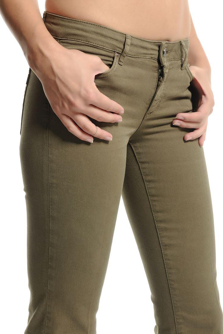 Bayan Yeşil İspanyol Paça Pantolon