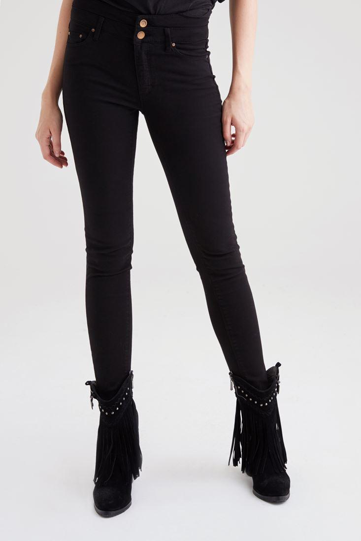 Siyah Yüksek Bel Skinny Pantolon