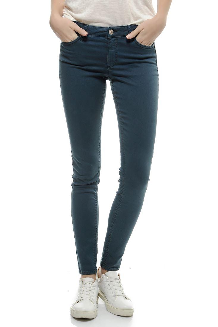Bayan Lacivert Düşük Bel Skinny Pantolon