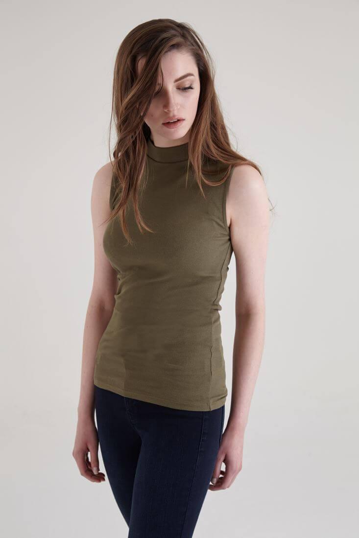 Bayan Yeşil Boğazlı Atlet