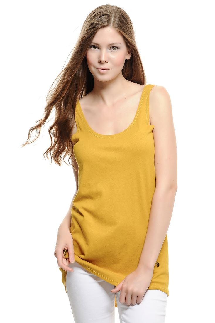 Yellow Wide Neck Oversized Tank