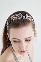 Bayan Çok Renkli Geometrik Desenli Saç Bandı