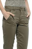 Bayan Yeşil Yüksek Bel Cepli Pantolon