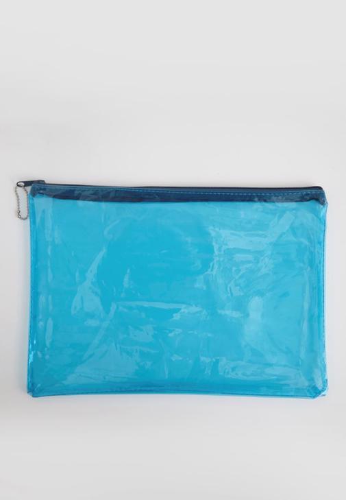 Beyaz Şeffaf El çantası
