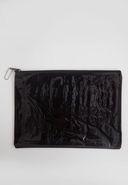 Siyah Şeffaf El çantası