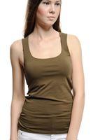 Bayan Yeşil Kare Yaka Basic Atlet