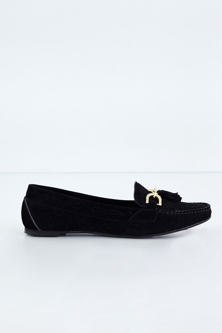 Bayan Siyah Loafer Ayakkabı