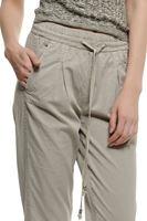 Bayan Krem Beli Bağlamalı Pantolon