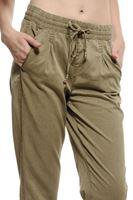 Bayan Yeşil Beli Bağlamalı Pantolon