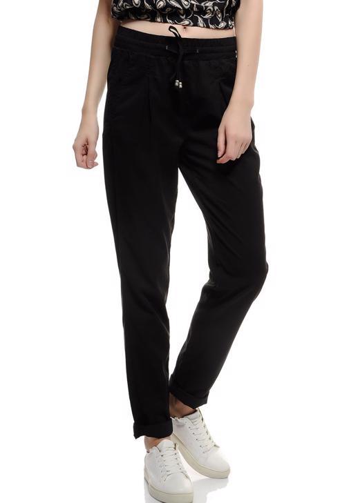 Siyah Beli Bağlamalı Pantolon