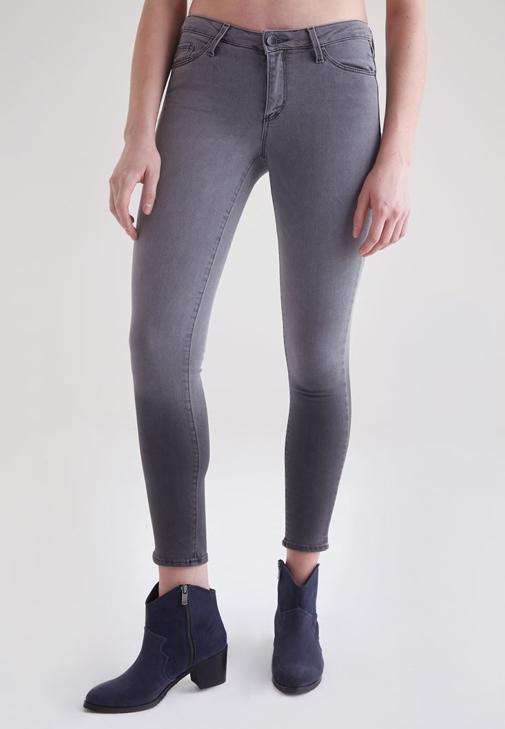 Gri Gri Normal Bel Dar Paça Pantolon