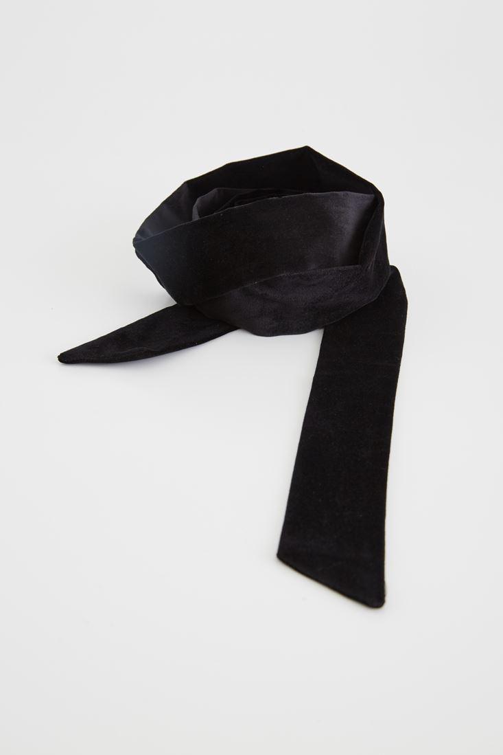 Black Velvet Thin Scarf