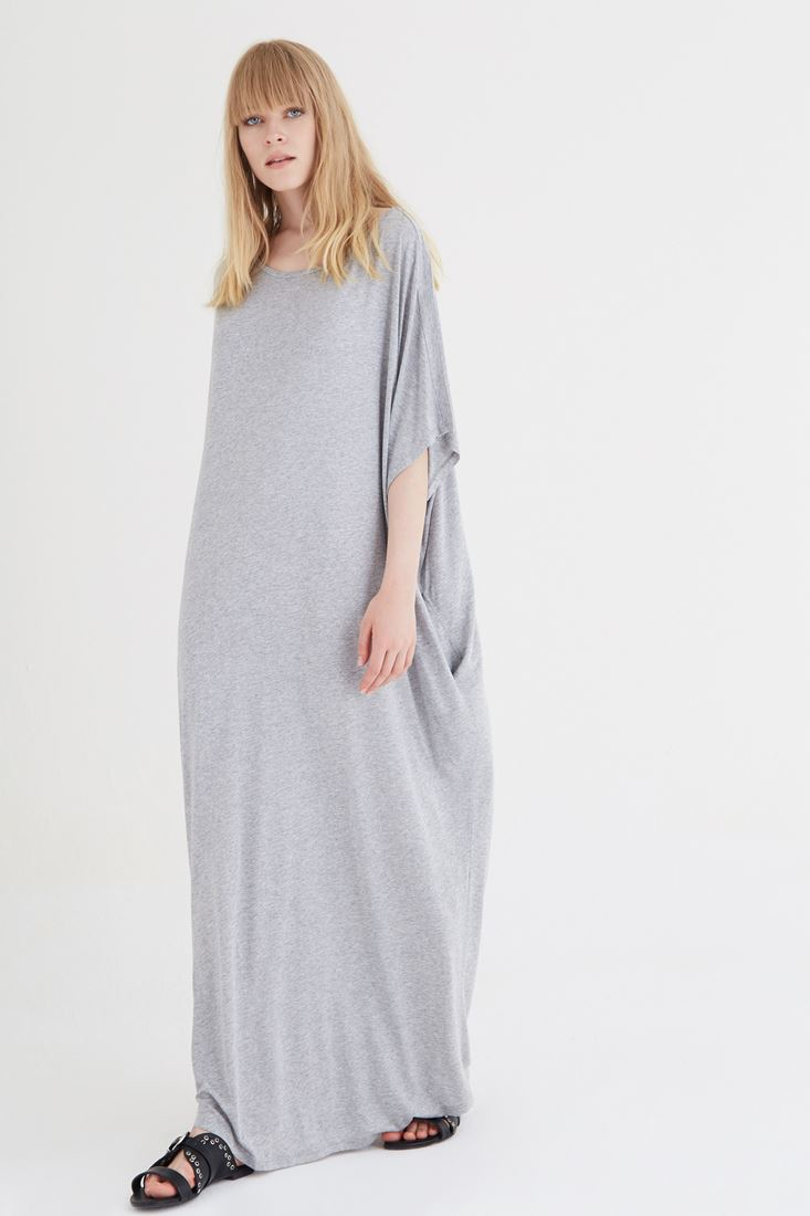 Grey Wide Maxi Dress