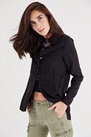 Bayan Siyah Uzun Cepli Gömlek