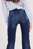Bayan Mavi İspanyol Paça Denim Pantolon