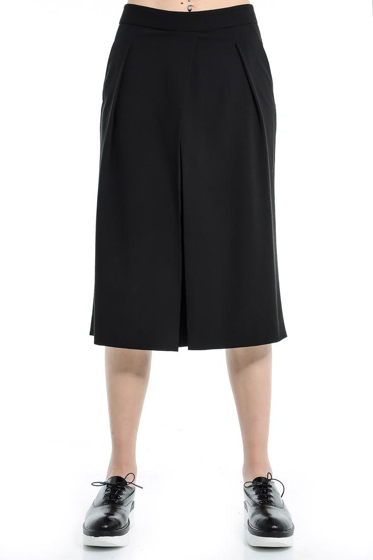 Siyah Yüksek Bel Kısa Paça Pantolon