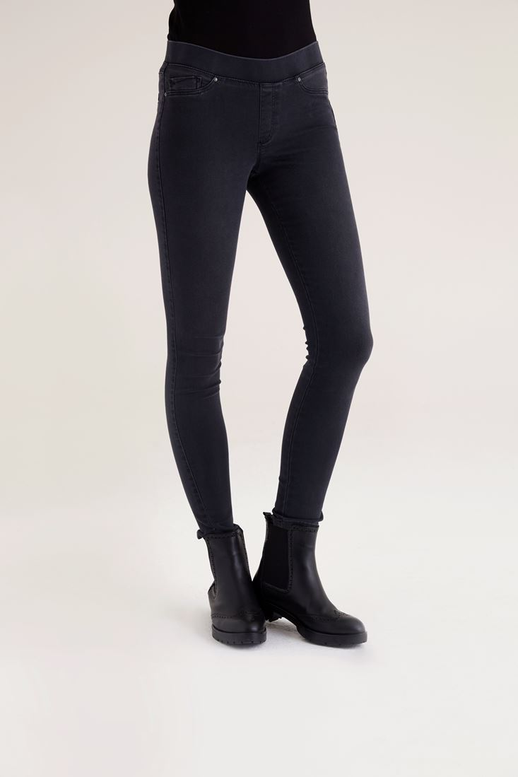 Grey Black Jegging