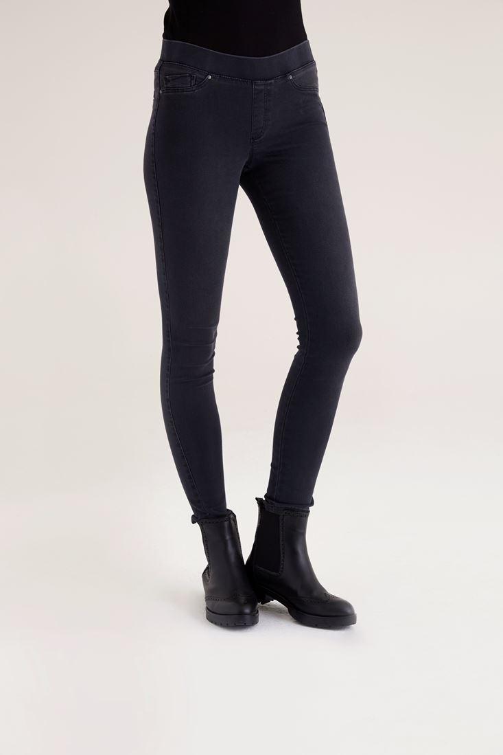 Gri Siyah Tayt Pantolon