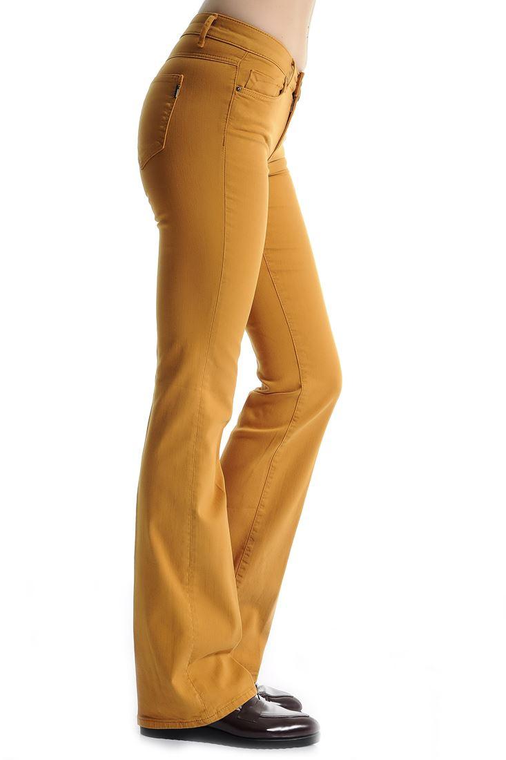 Turuncu Bot Paça Pantolon